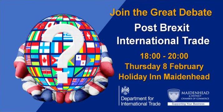 Post Brexit International Trade event 8 February, 2018, Holiday Inn Maidenhead